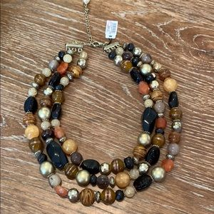 Beautiful multi strand beaded necklace
